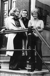 Eveline Bühler, HRG and a friend in Amsterdam in 1976.