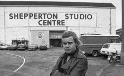 HRG in front of Shepperton Studios, Great Britain, where he realised most of his work for �Alien�.