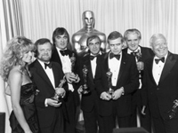 HRG with Farah Fawcett and the Oscar winning crew for �Alien� in 1980.