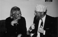 HRG with his close friend Ernst Fuchs whom he adores